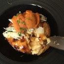 Sea urchin and crab custard tart, listen to the flakiness and crisp😁