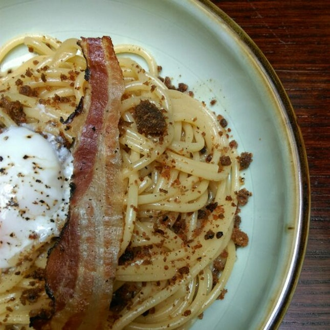 Bacon Carbonara With Guanciale