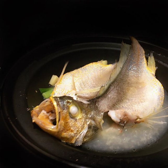 '100-second Stewed Yellow Croaker' ($12++).