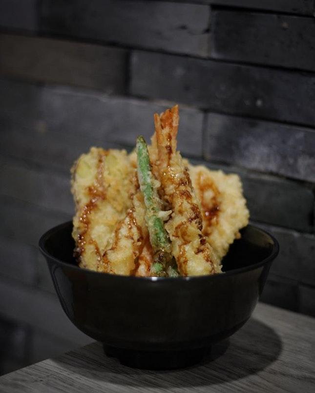 Jumbo Tendon ($12) from Fry Pan Shokudo at Japan Foods Garden (Shaw House).