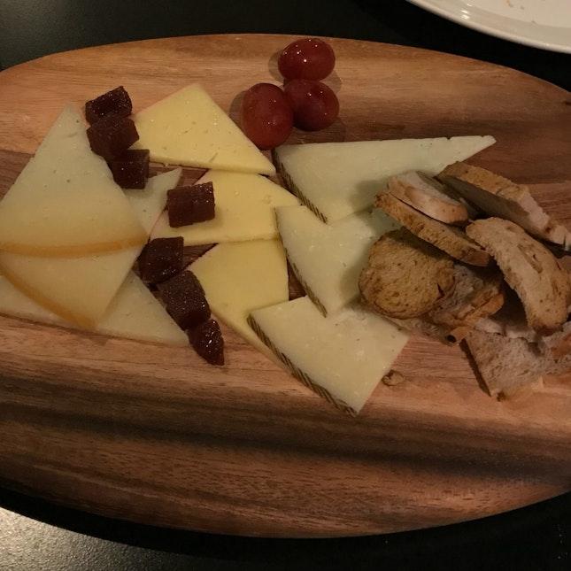 SPANISH CHEESE PLATTER - Manchego . Idiazabal . Mahon . Quince Paste . Walnut [$22]