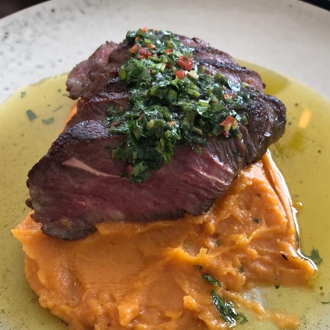 Flank iron steak [$28]