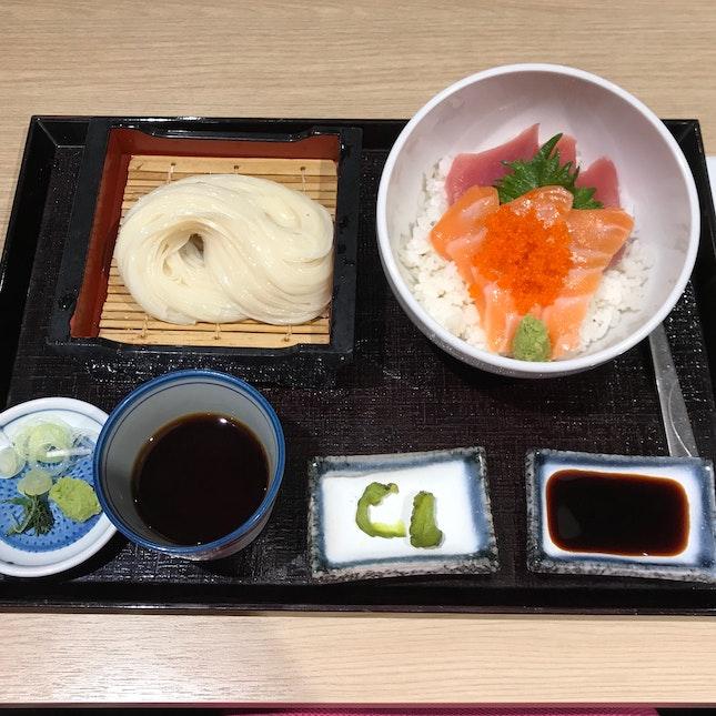 Tuna & Salmon Don Set [$18.80]