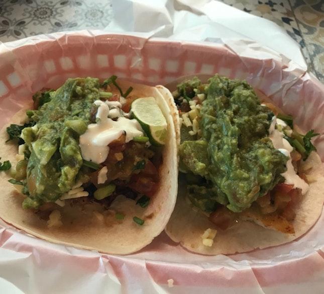 Tacos - 2pcs [$10] + Top up of guac [$1/each]