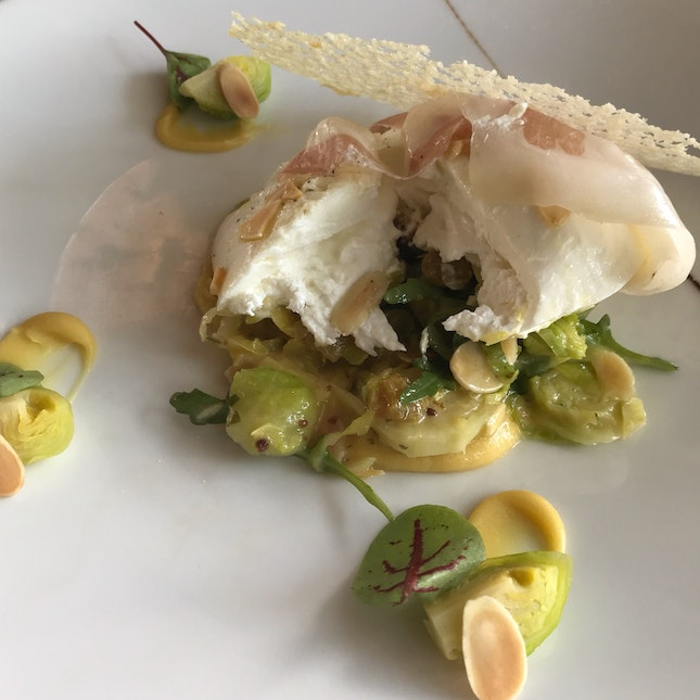 Burrata with Marinated Brussels Sprouts