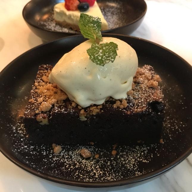 Chocolate Brownie [$6] + Ice Cream [$2]