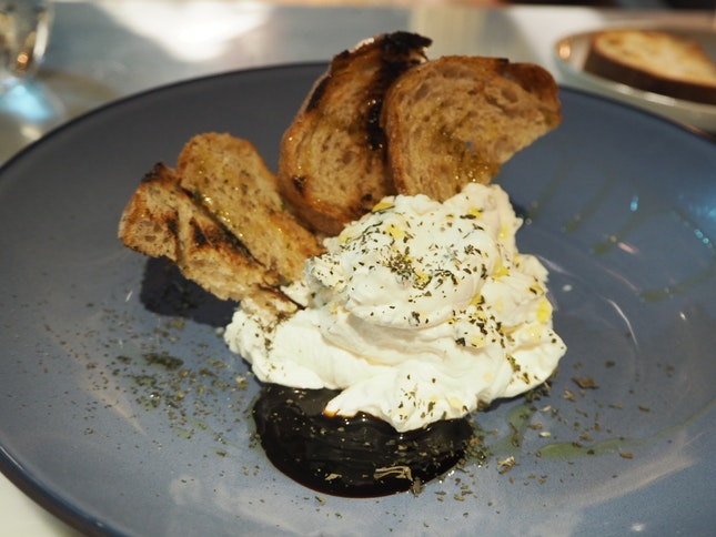 Whipped Buffalo Milk Ricotta | Honey & herbs [$19]