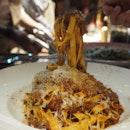 Tagliatelle | 24 hour beef ragu, parmigiano [$30]