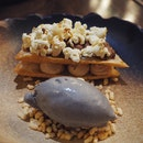 Peanut butter | Tart - toasted almonds, sesame ice cream, cognac [$14]