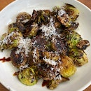 Charred Brussel sprouts - parmesan, balsamic [$12]