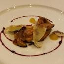 Fegato Grasso con Consistenze di Mela e Riduzione al Porto  Seared foie gras with apple textures and Port wine reduction [$34]