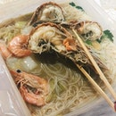Dabao-ed crayfish lala beehoon for dinner!!!
