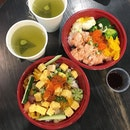 Kaisen don ($13.90) and mentaiko salmon don ($13.90) Don't miss out their lunch promo of 50% your second bowl!!