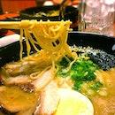 Ginjiro ramen, a tonkotsu and dried bonito soup based, hakata style ramen.