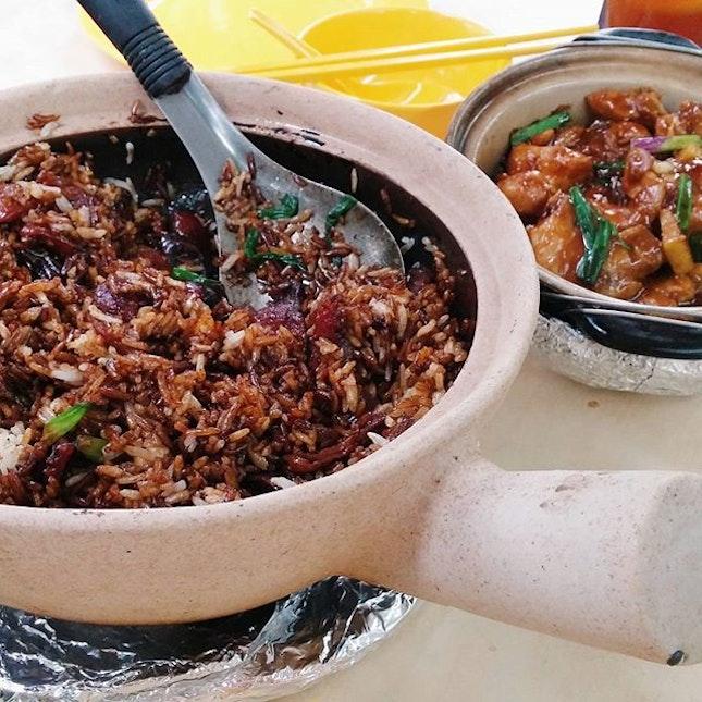 Mixed Claypot Rice & Claypot Sesame Chicken