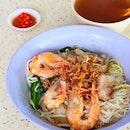 Pork Rib Prawn Noodle Dry