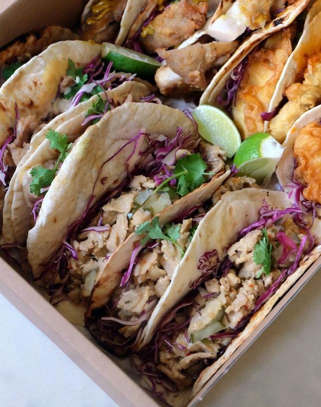 Filipino Pork Belly Sisig Taco