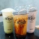 Brown Sugar Boba Milk Tea, Hokkaido Chizu Matcha & Fragrant Taro Latte
