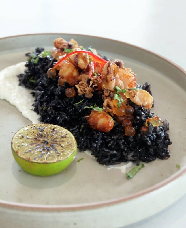 Squid Ink Fried Rice