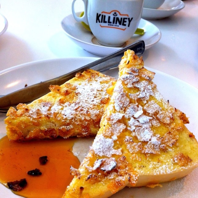 Cheese-stuffed french toast