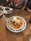 Waffles With Double Scoop