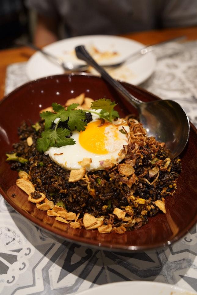 Buah Keluak Fried Rice ($28)