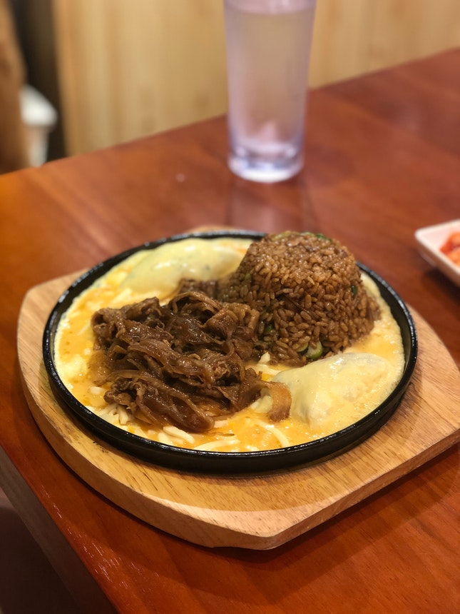 Volcano Beef fried Rice With Cheese ($12.80)