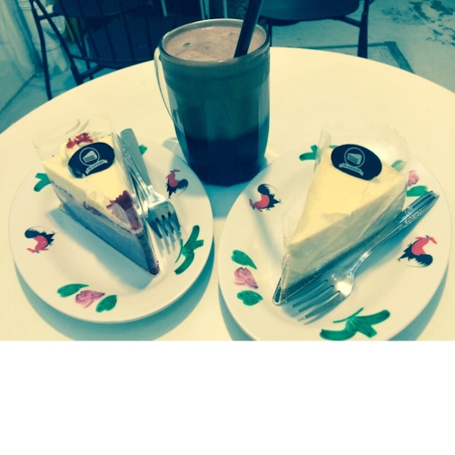 Cake With Chocolate Drink