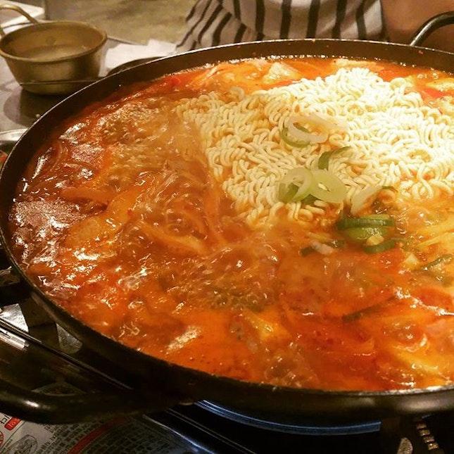 Army stew #burpple #foodporn #dinner #korean