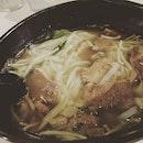 Beef kway tiao soup #burpple #foodporn #dinner