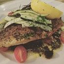 Grilled sea bass #burpple #foodporn #dinner #seabass