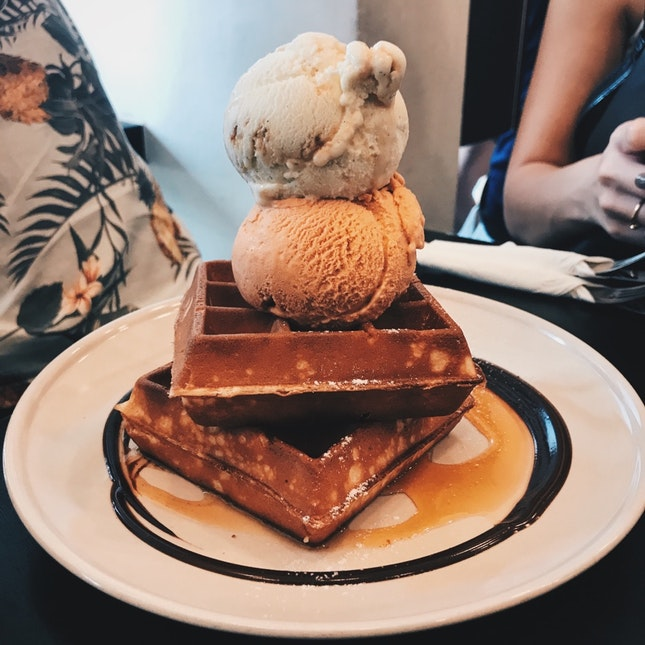 Ice Cream Waffles