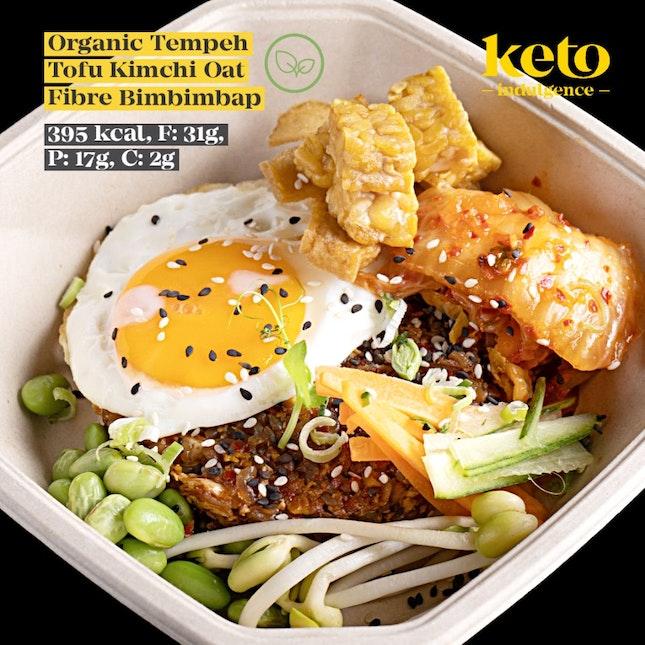 Organic Tempeh Tofu Kimchi Bimbimbap (Vegetarian)