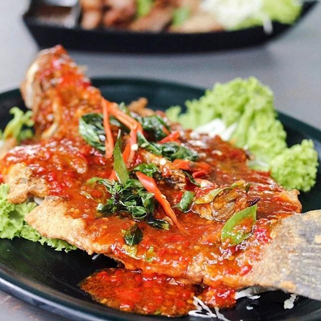 Deep-Fried Sea Bass w/ Special Sauce