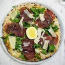 Breasaola And Rocket Pizza