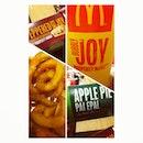 #dinner for #tonight. #Prosperity #burger set and #apple #pie. I'm #lovin it.