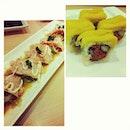 #specialmenu for #iftar: #salmoncarpaccio and #kimchimangomaki.