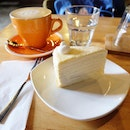 Is it a Hokkaido milk crepe cake and latte time?