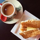 Kaya Toast; Teh C ($3.30)