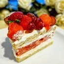 Indulge in the Strawberry Watermelon cake at @outofthecakebox  You must have heard of the famous Strawberry Watermelon Cake from Black Star Pastry in Australia.
