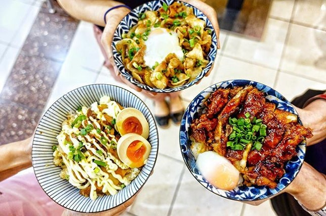 Indulge in the Rice Bowls at @ramenhitoyoshi  Fancy a Buta Shogayaki Don with its pork slices marinated in ginger flavored sauce and stir fried?