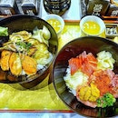 Feast on the Don Sets at Bonta Bonta  The fantastic Bonta Four Grilled Don of Unagi, Salmon, Fluke Fin and Squid with the Bonta Special Donmaru consisting of Tuna, Minced Tuna, Salmon Roe, Sea Urchin, Squid are truly an appetising pair.