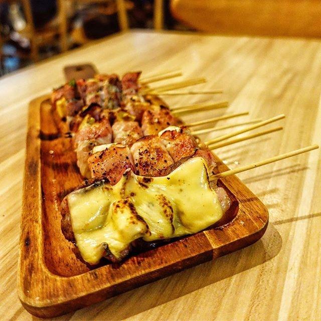 Delight in the Kushiyaki Pork @mikawa_yakitori  Yakitori is fast becoming one of my personal favourites.