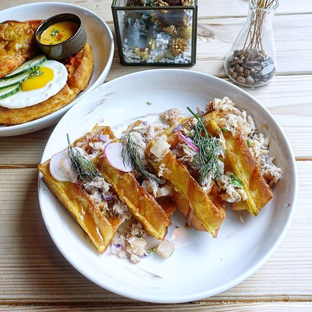 Delight in the newly launched brunch menu @montanasingapore  Montana has always been known for their waffles but they have brought their savoury waffles and dessert waffles to another level with their new brunch menu.
