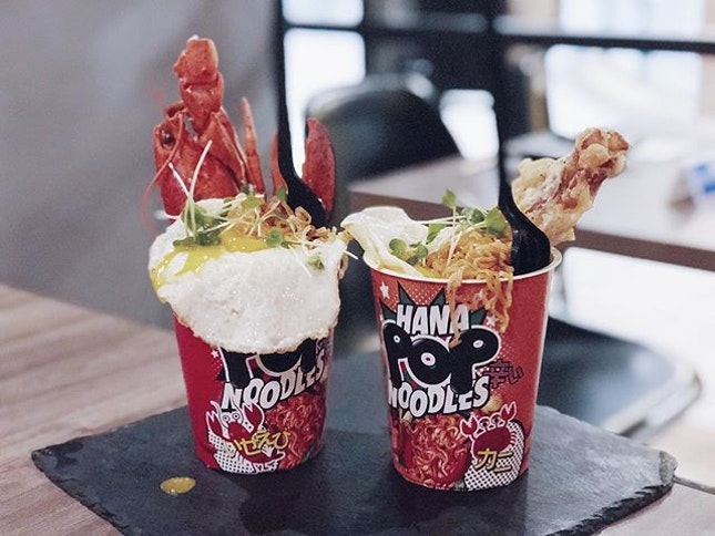 Lobster Tom yum noodles ($22) and Chilli crab noodles ($18) that were launched 8 days ago!