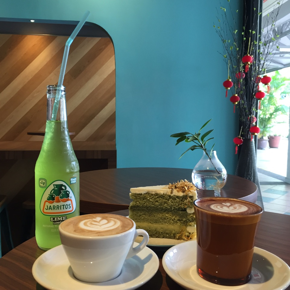 Coffee & Matcha Yuzu Cake