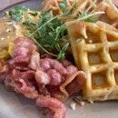 Waffles with Crispy Bacon
