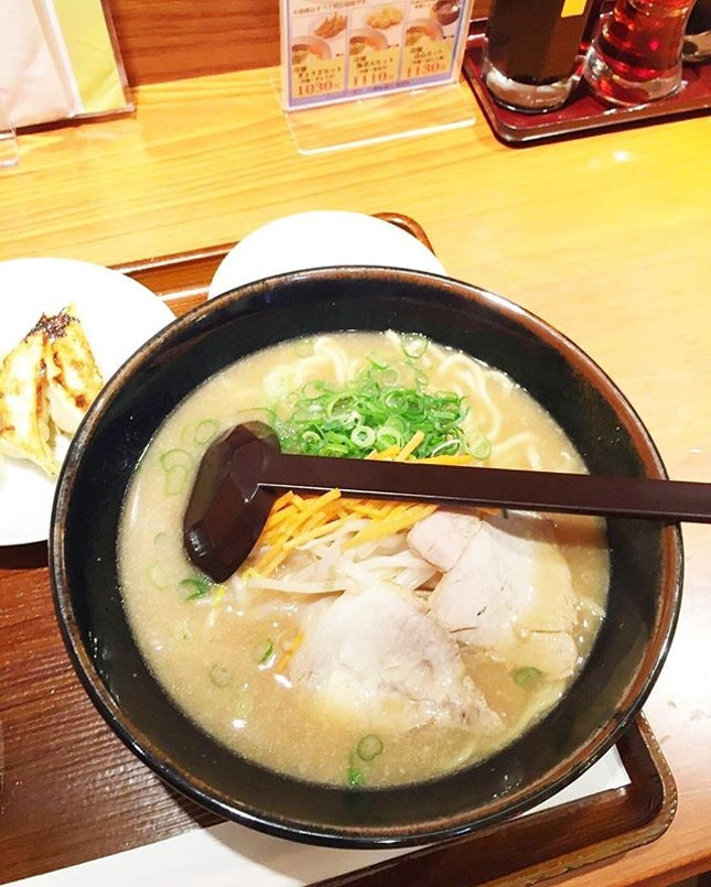 Randomly walked into this ramen shop in abeno harukas because I was famished and this was yummy too.