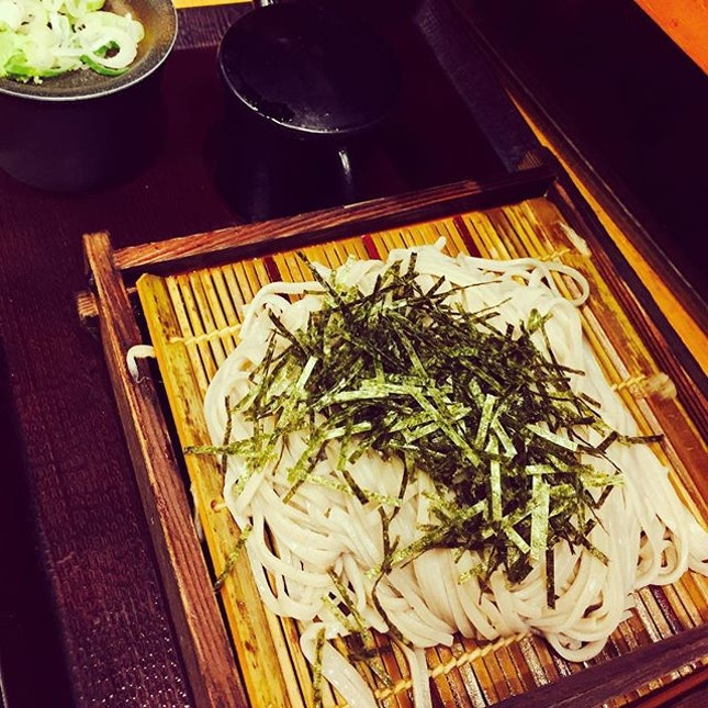 Yummy soba noodles.