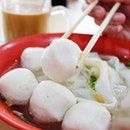 This fish ball at Chao Zhou Fishball noodle is seriously so good!!